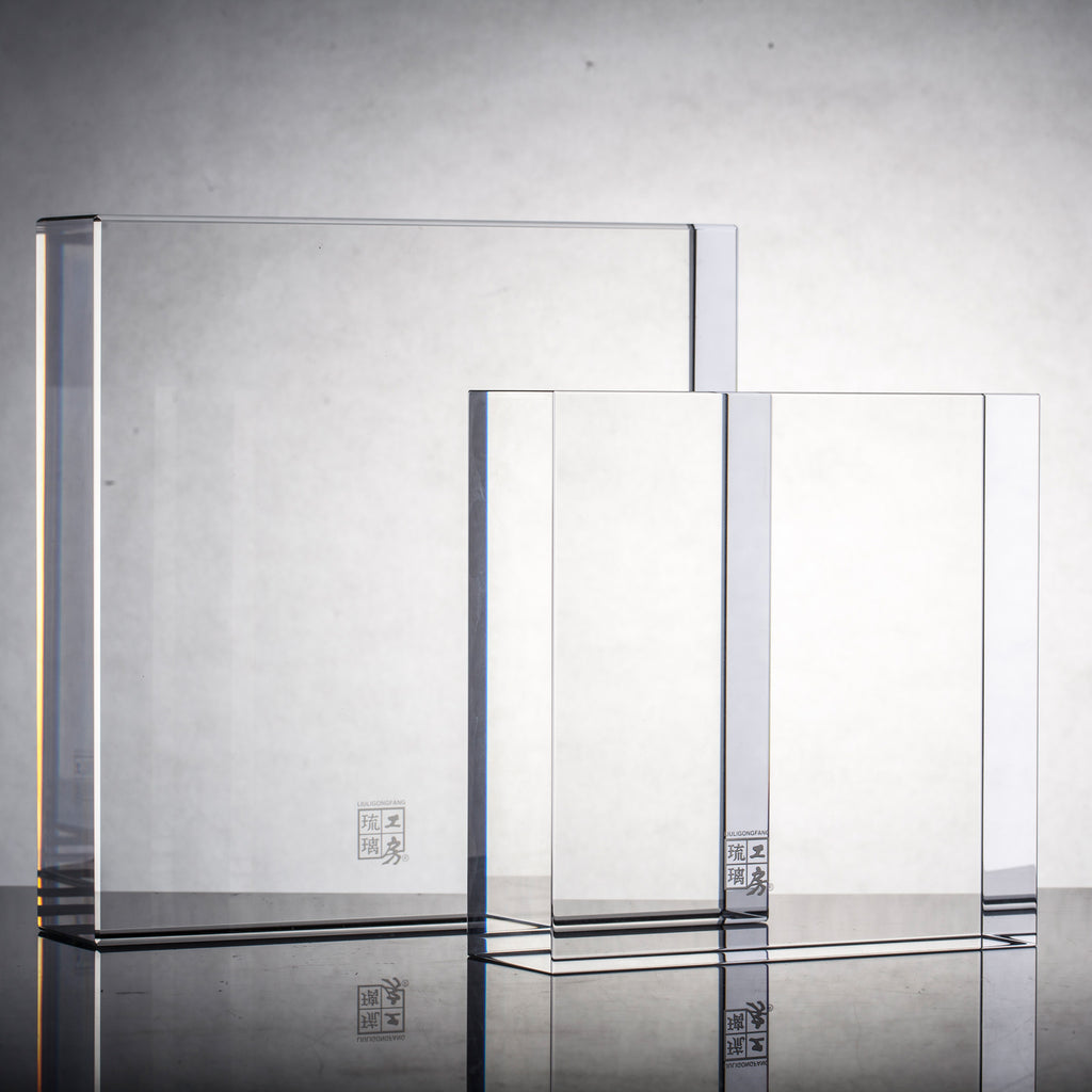 Acrylic Display Base with Logo Engraving (varies sizes) - LIULI Crystal Art