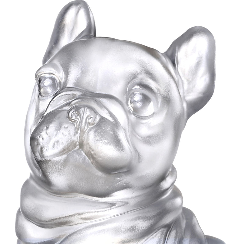 Heads Up! (Blessings) - Dog Figurine - Exclusive Edition with Gilded Peony Display Base - LIULI Crystal Art - [variant_title].
