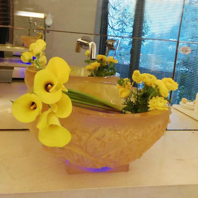 -- Delete -- Floral Vase, Narcissus Flower Basin, Narcissus Reflection - LIULI Crystal Art
