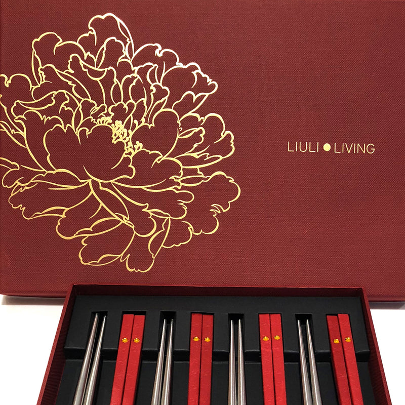 Blessed - Chopstick (8 Pairs Per Pack) - LIULI Crystal Art - [variant_title].