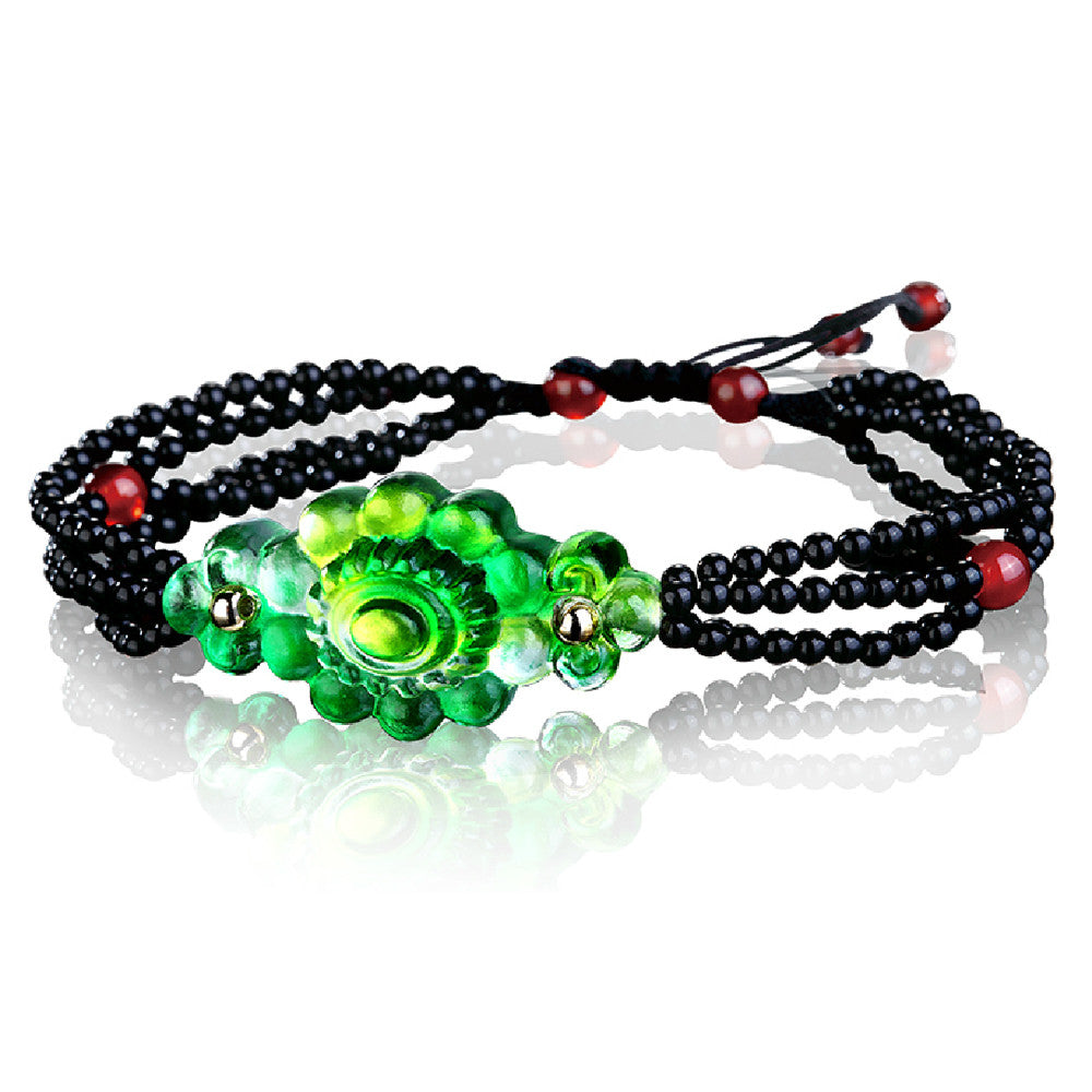 Bracelet in Black (Wisdom of Life) - Merit of Revelatory Bliss - LIULI Crystal Art