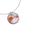 Crystal Necklace, Ruyi, The Flowers are Beautiful and The Moon is Full - LIULI Crystal Art