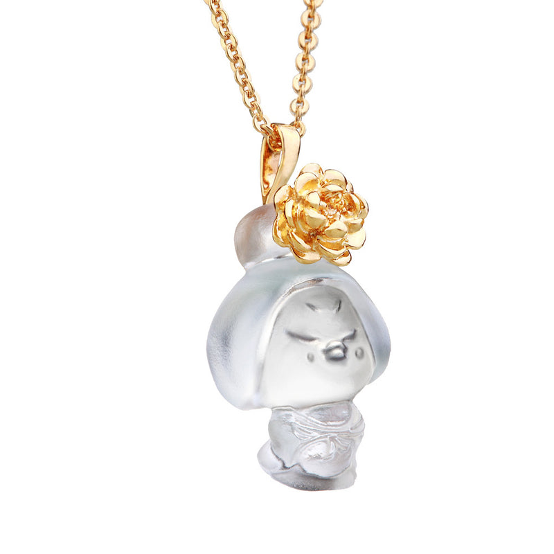 Crystal Pendant, Necklace, Doll, I am Brave and Beautiful - LIULI Crystal Art