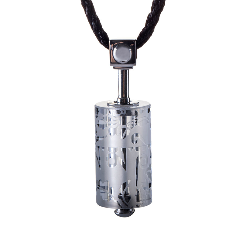 Crystal Necklace, Pendant, LIULI Prayer Wheel, Eternal Cycle of Compassion - LIULI Crystal Art