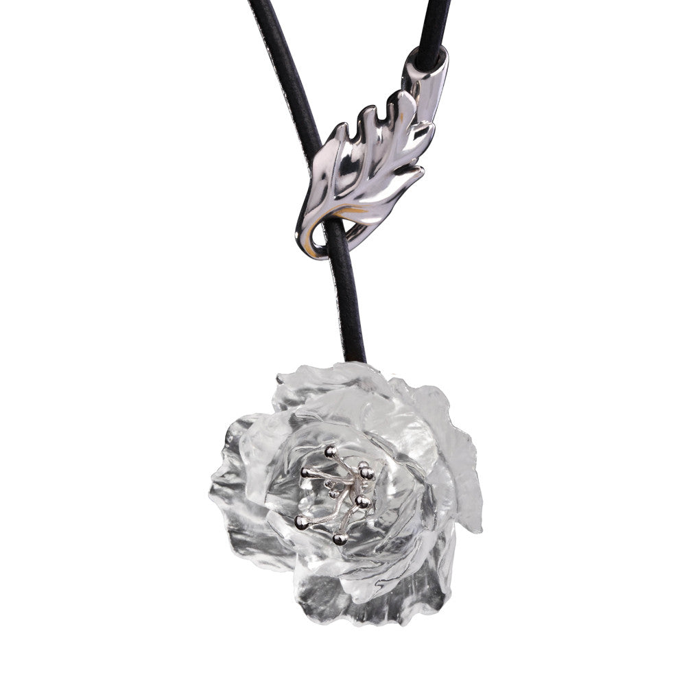 "Necklace (Flower, Be Your Own Self) - ""Give Yourself a Beautiful Name"" - LIULI Crystal Art 