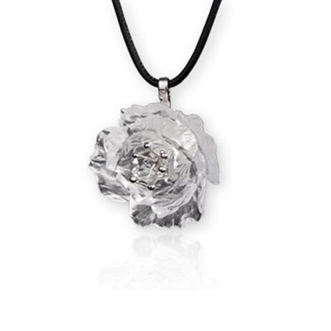 "Necklace (Peony Flower, My Love Life) - ""Crystal Clear"""