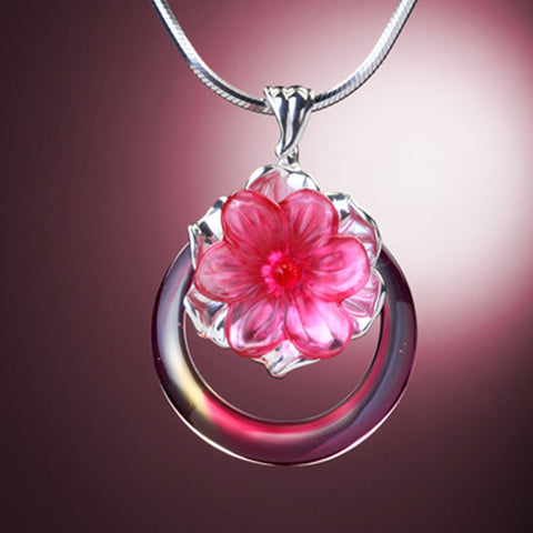 Necklace (Flower, Forever Beauty) - Fulfillment Eternal in the Flowers and Moon