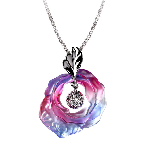 -- DELETE -- Necklace (Love & Romance) - I Will Love You for All Time - LIULI Crystal Art