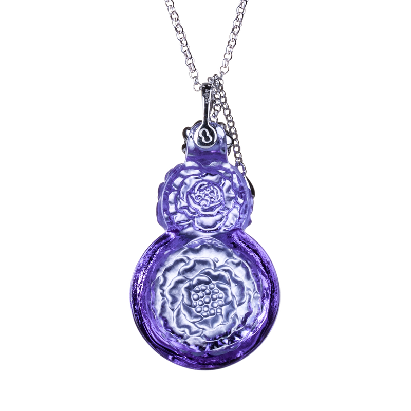 Crystal Necklace, Peony, The Contents of My Heart - LIULI Crystal Art