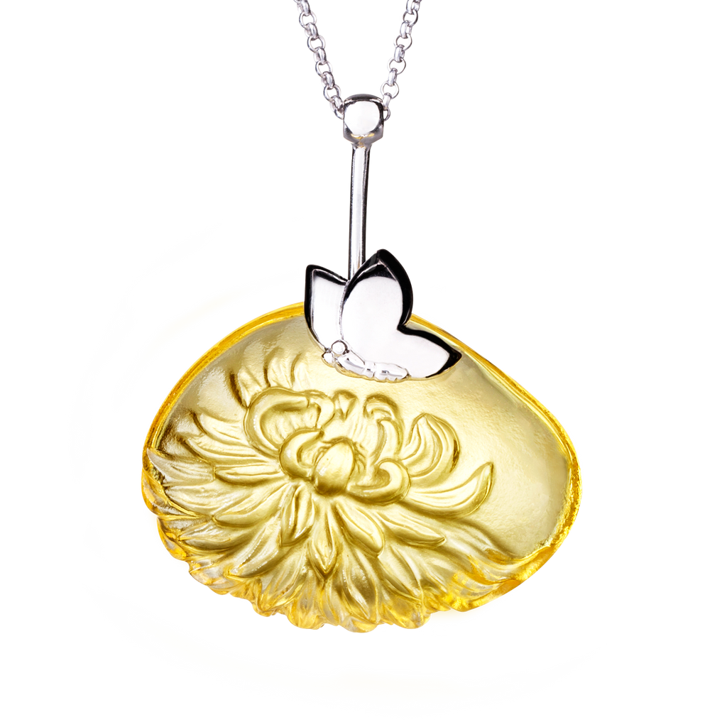 Crystal Necklace, Dahlia, The Sun Within - LIULI Crystal Art