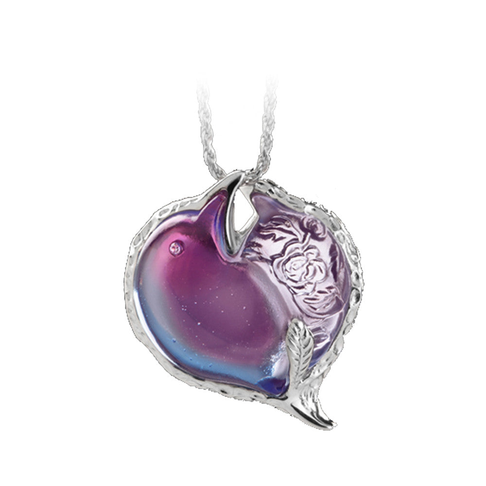 Pendant Necklace (You Steal My Heart) - Always Together - LIULI Crystal Art | Collectible Glass Art