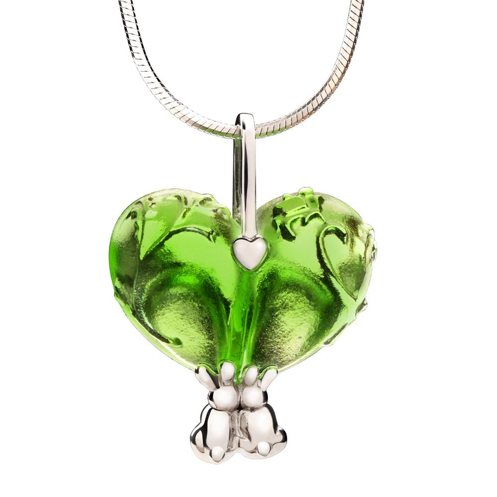 Necklace (Heart Shape, Love) - Bound To You - LIULI Crystal Art