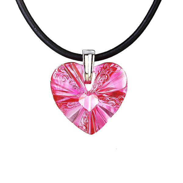 -- DELETE -- Necklace (Love, Heart Shape) - The Light Within Your Heart - LIULI Crystal Art