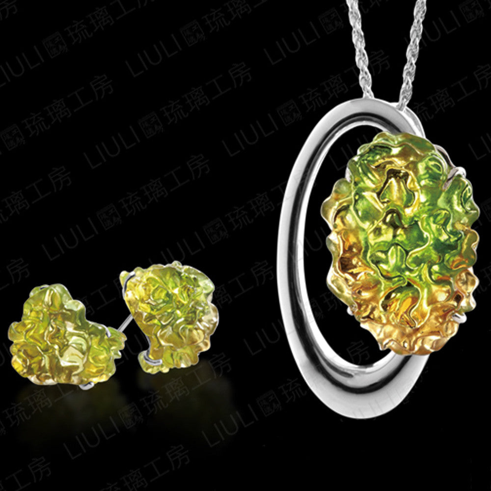 Earrings & Necklace - Every Day a New Bloom (Set of 2) - LIULI Crystal Art