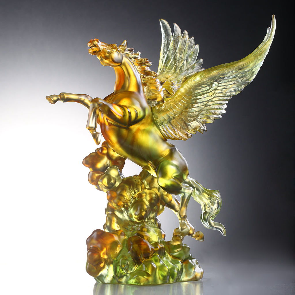 LIULI Crystal Art Collectible Pegasus Sculpture, King