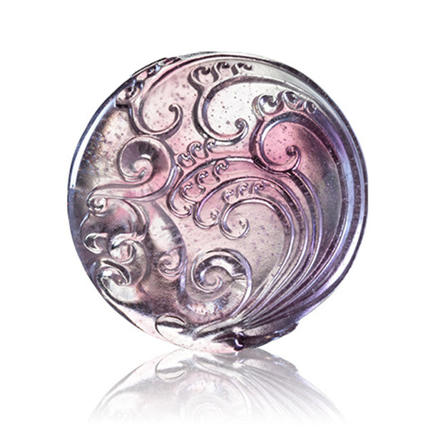 "Paperweight (This World is Round) - ""Phoenix of the South: Passionate"" - LIULI Crystal Art 
