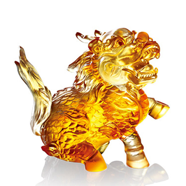-- DELETE -- Auspicious Qilin (Guardian and Protection) - Embrace the World - LIULI Crystal Art