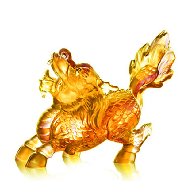 -- DELETE -- Auspicious Qilin II (Guardian and Protection) - Embrace the World - LIULI Crystal Art