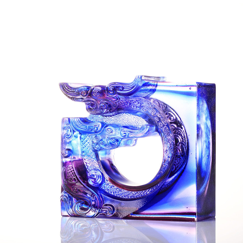Crystal Dragon, The Beauty of Harmony, An Unassuming Heart - LIULI Crystal Art