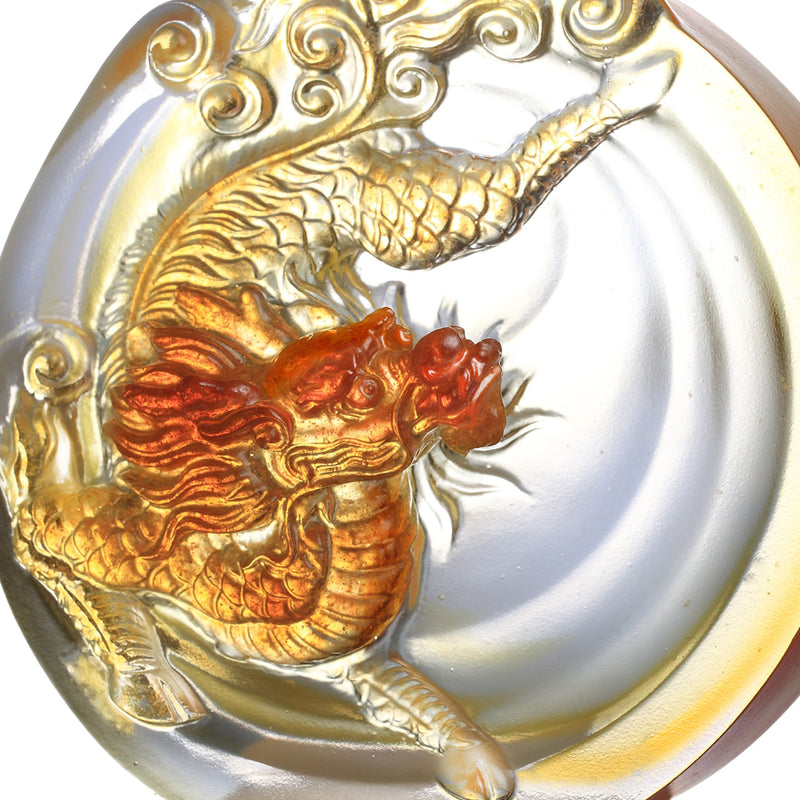 Crystal Mythical Creature, Qilin, Sun Dance - LIULI Crystal Art