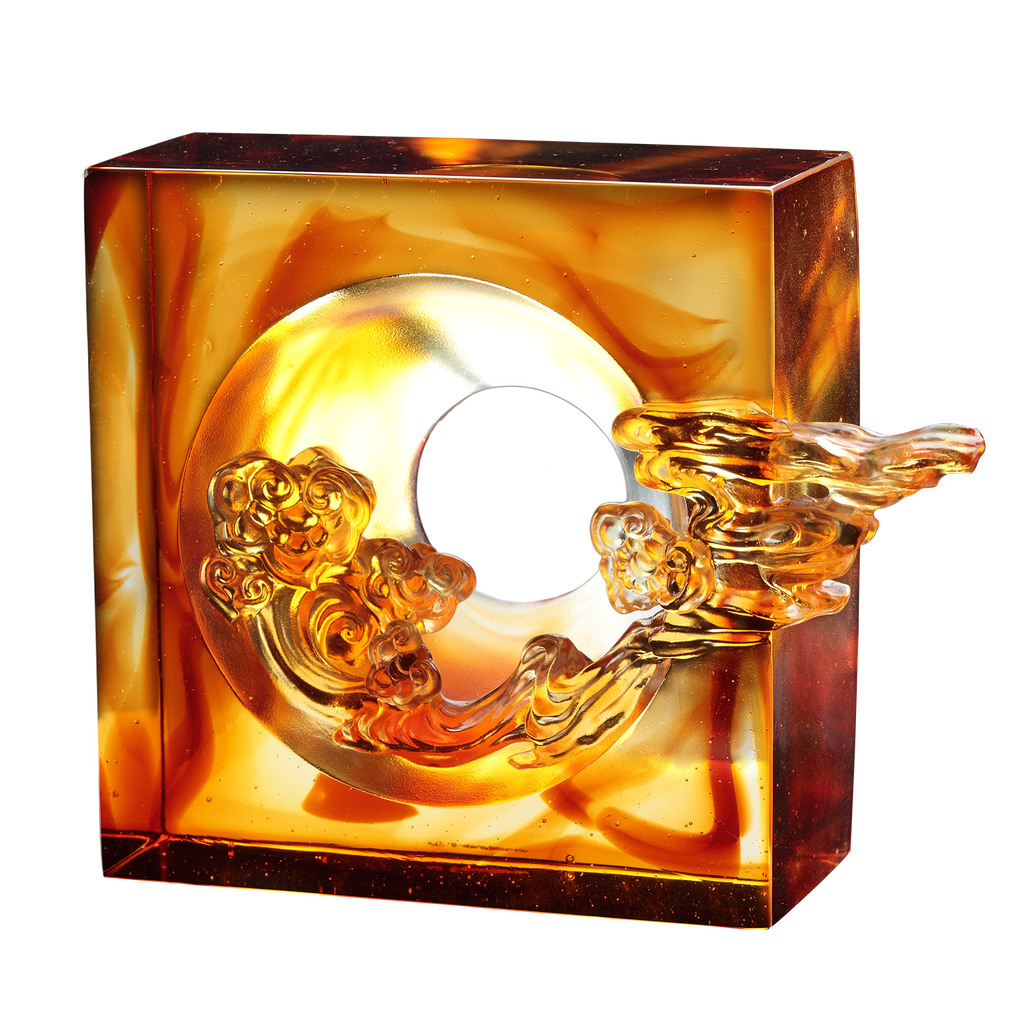 Crystal Feng Shui Ruyi, Good Fortune Ruyi - LIULI Crystal Art
