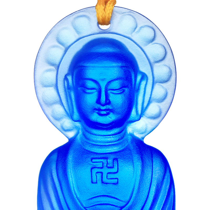 Crystal Charm, Medicine Buddha, Follow the Heart, Follow Happiness - LIULI Crystal Art