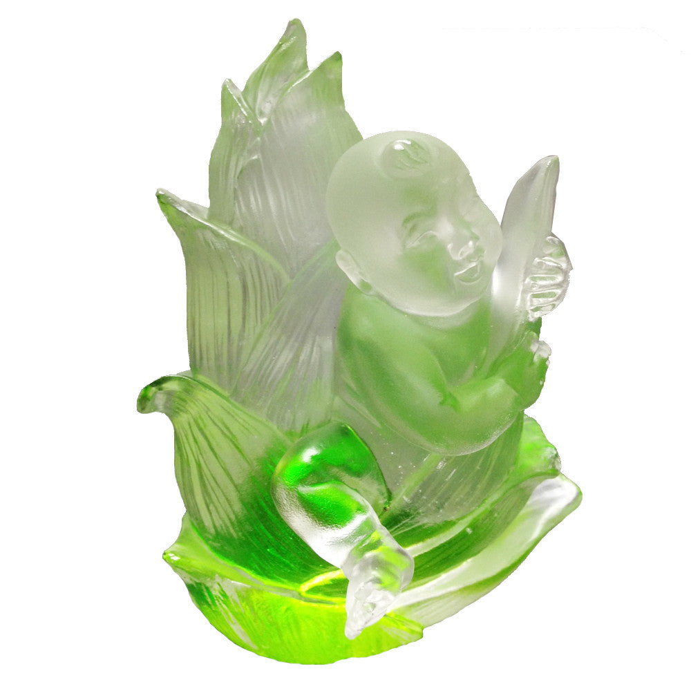 "Crystal Doll Figurine (Fearless) - ""Great Heights Dolly"" - LIULI Crystal Art"