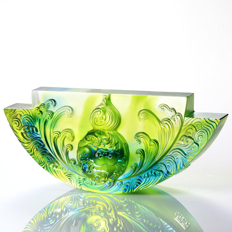 Crystal Hulu, Chinese Culture, The Beauty of Harmony, Harmony Permeates the Land - LIULI Crystal Art