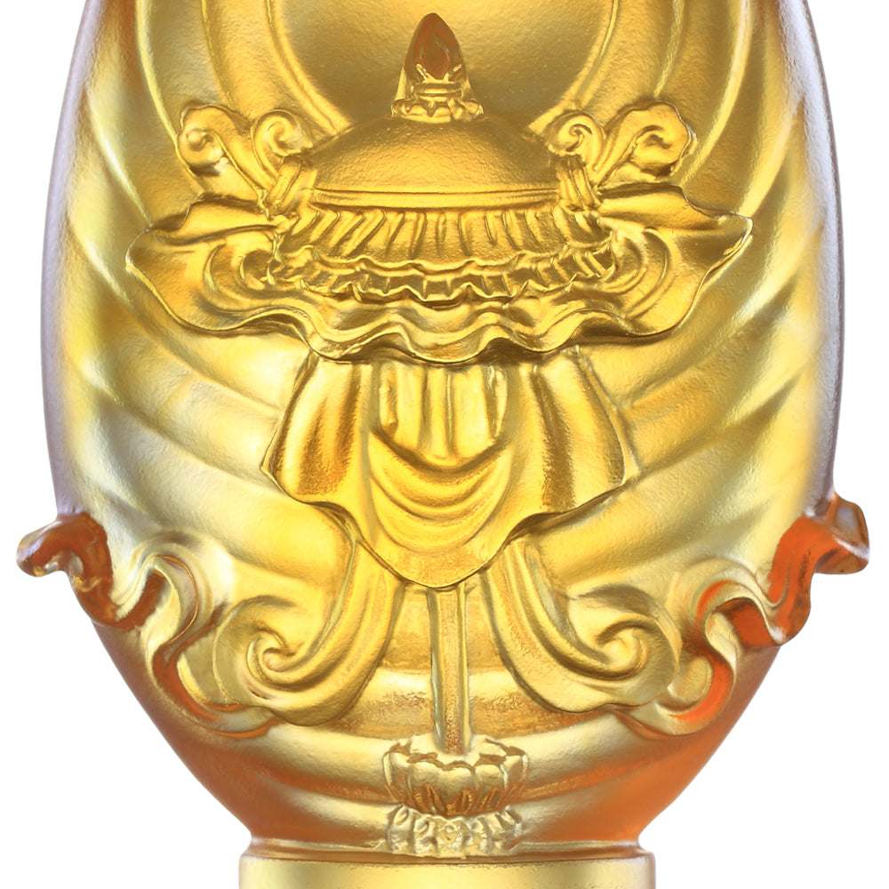 Crystal Feng Shui, Eight Auspicious Offerings, Precious Umbrella-Auspicious Peace - LIULI Crystal Art