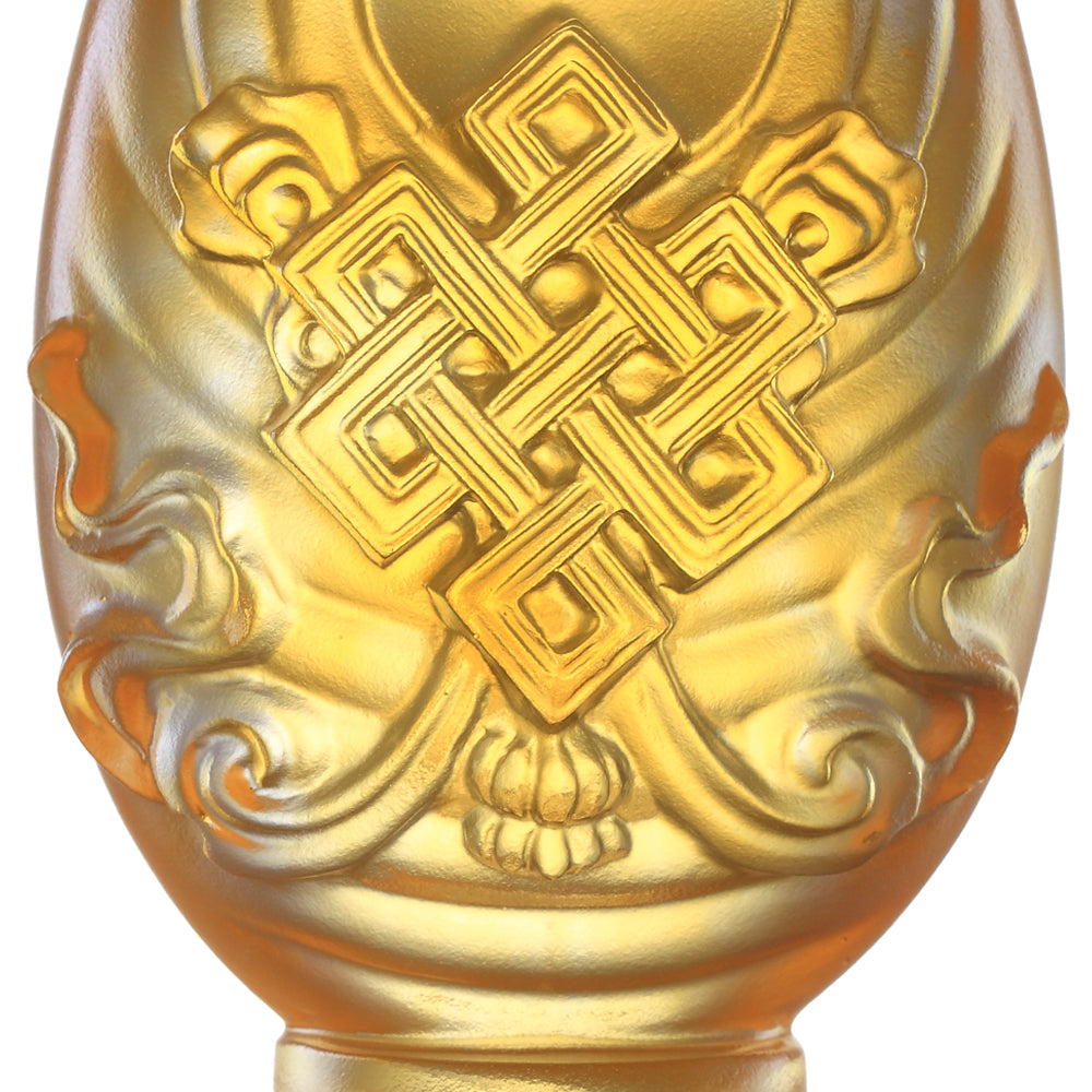 Crystal Feng Shui, Eight Auspicious Offerings, Auspicious Diagram-Immeasurable Auspiciousness - LIULI Crystal Art