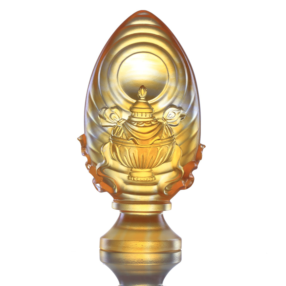 Crystal Feng Shui, Eight Auspicious Offerings, Vase of Treasures-Auspicious Wishes - LIULI Crystal Art