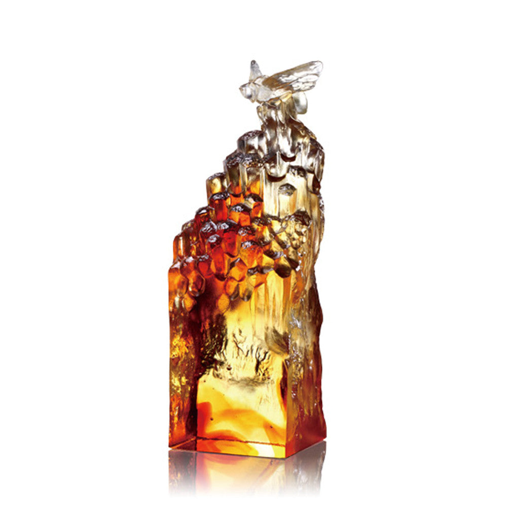 Crystal Bee, Prosperity All Around - LIULI Crystal Art