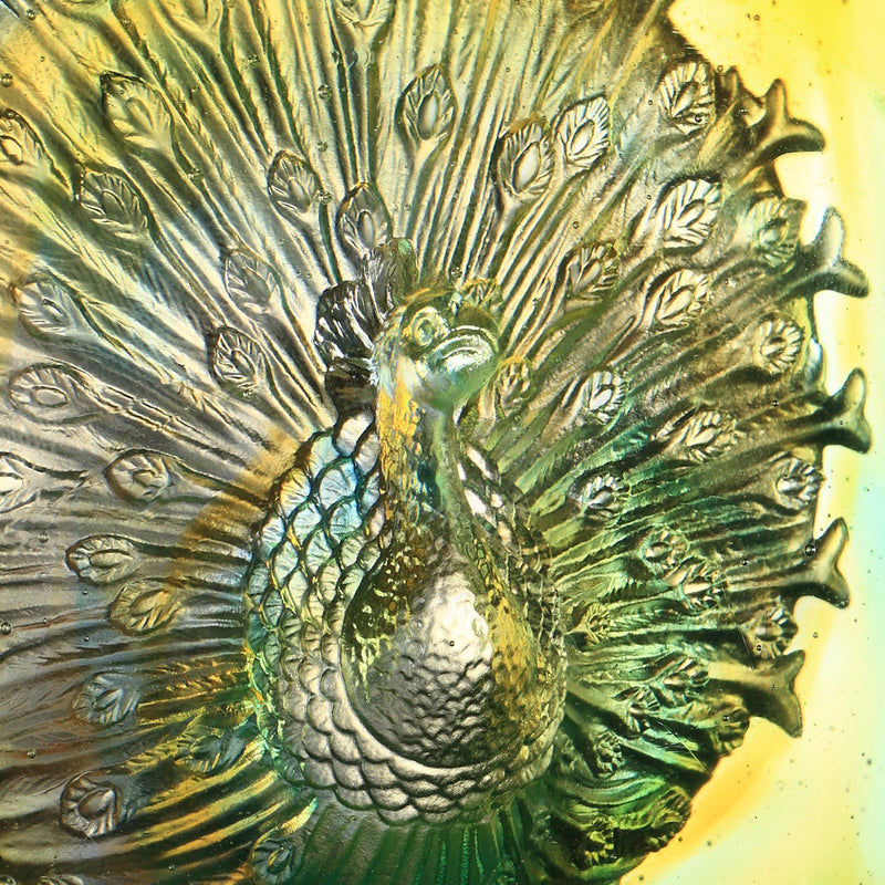 Crystal Paperweight, Peacock, A Radiant Heart - LIULI Crystal Art