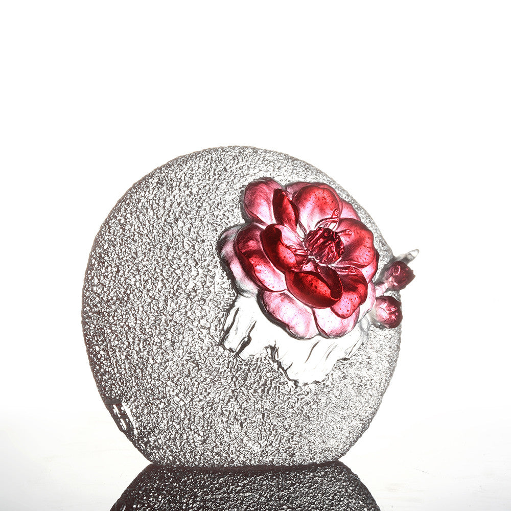 Crystal Flower, Plum Blossom, Burst of Spring - LIULI Crystal Art