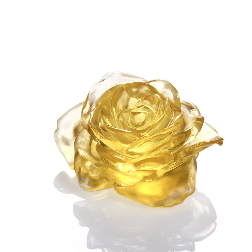 Chinese Crystal Art Flower, Rose, For an Amorous World - LIULI Crystal Art