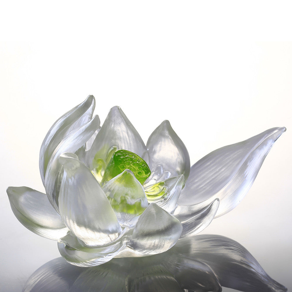 Your Tranquil Heart Purity Peace Lotus Flower Figurine Liuli