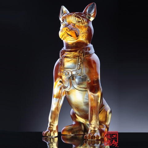 "Dog Figurine (Human's Best Friend) - ""Lucky"""