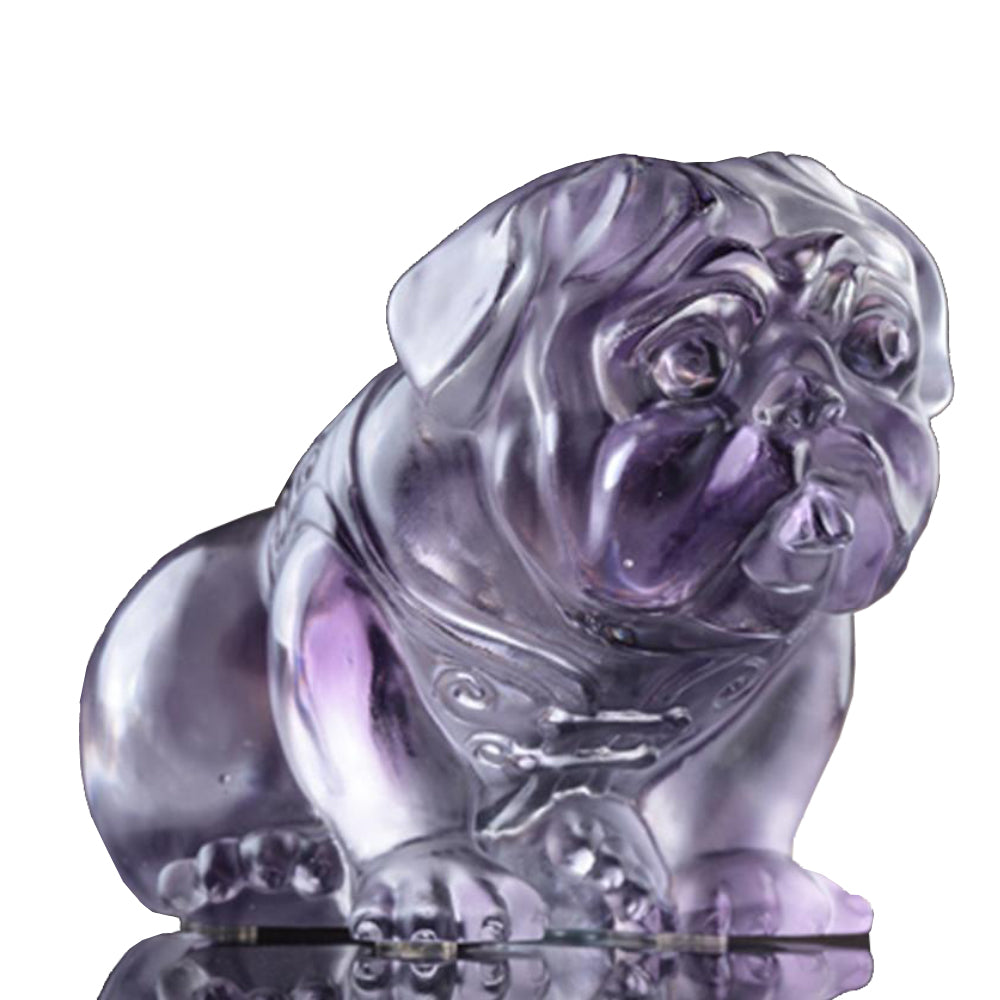 The Pug - Dog Figurine (Playful Pug) - LIULI Crystal Art