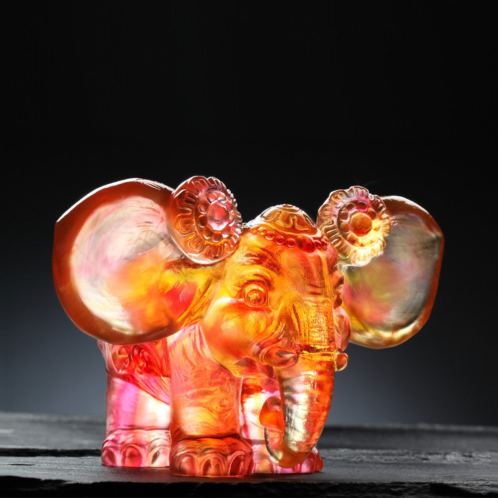 Fragrance of Pleasant Words for My Ears - Elephant Figurine (Listen to Praise) - LIULI Crystal Art - [variant_title].