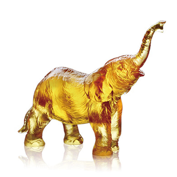 Forever Toward the Sky - Elephant Figurine (Ambition) - LIULI Crystal Art | Collectible Glass Art