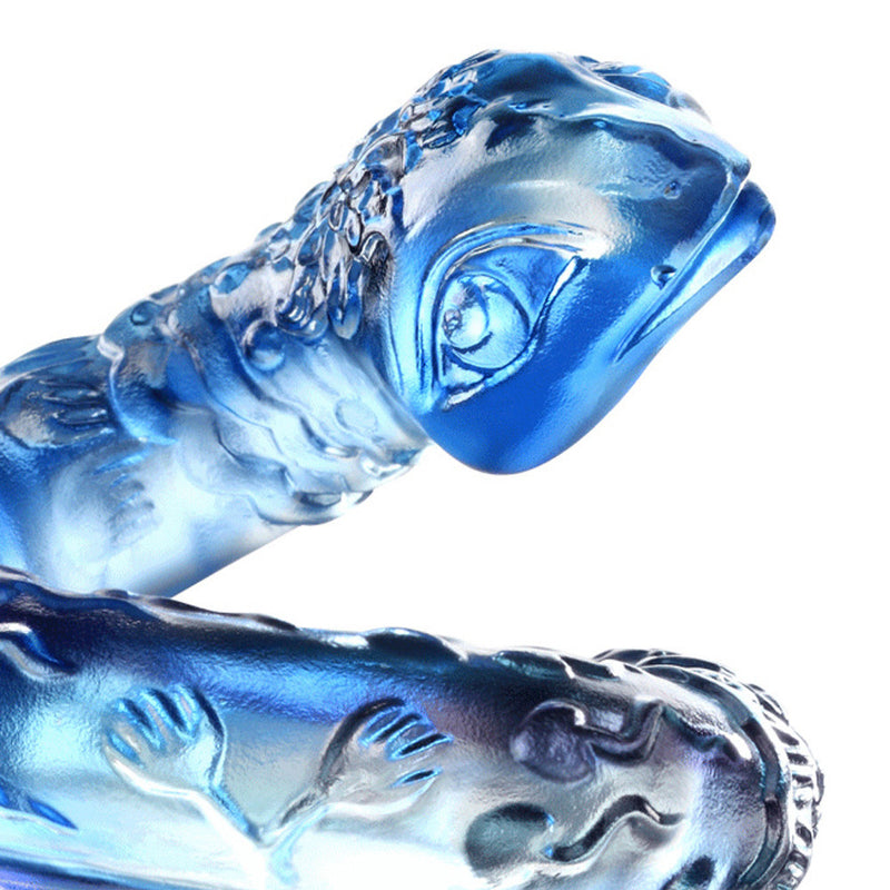 In Protective Coil (Protection) - Crystal Snake Figurine - LIULI Crystal Art - [variant_title].