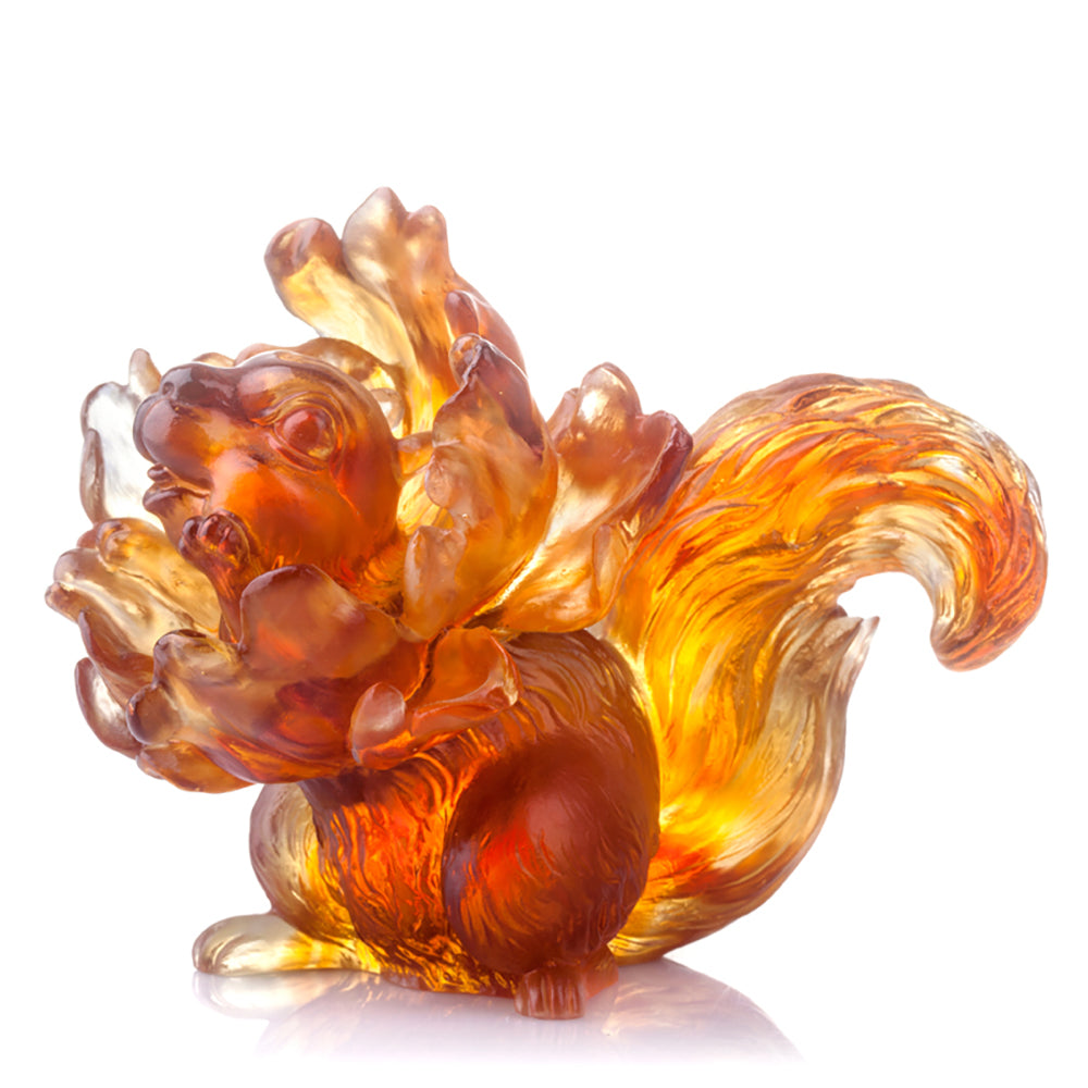 I Come From the Flowers (Love All Around) - Crystal Squirrel Figurine - LIULI Crystal Art - [variant_title].