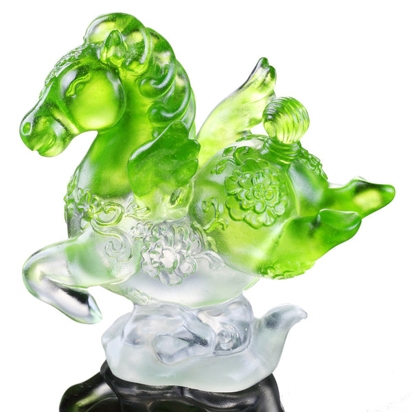 "Crystal Miniature Horse Figurine ""Little Young Pegasus"" - Collect All Ambitious 8 - LIULI Crystal Art"