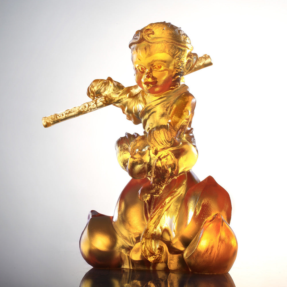 Monkey Figurine (Extraordinary) - Our Monkey King - LIULI Crystal Art