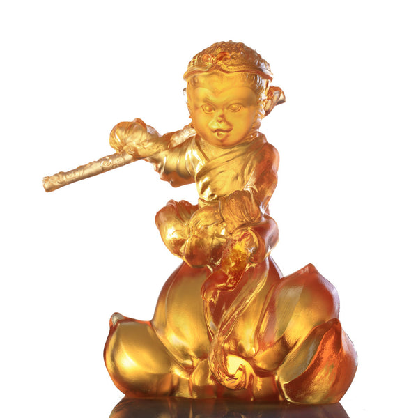 Monkey Figurine (Extraordinary) - Our Monkey King - LIULI Crystal Art | Collectible Glass Art