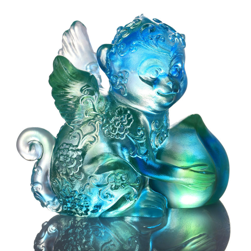 -- DELETE -- Crystal Animal, Monkey, Little Winged Prodigy - LIULI Crystal Art