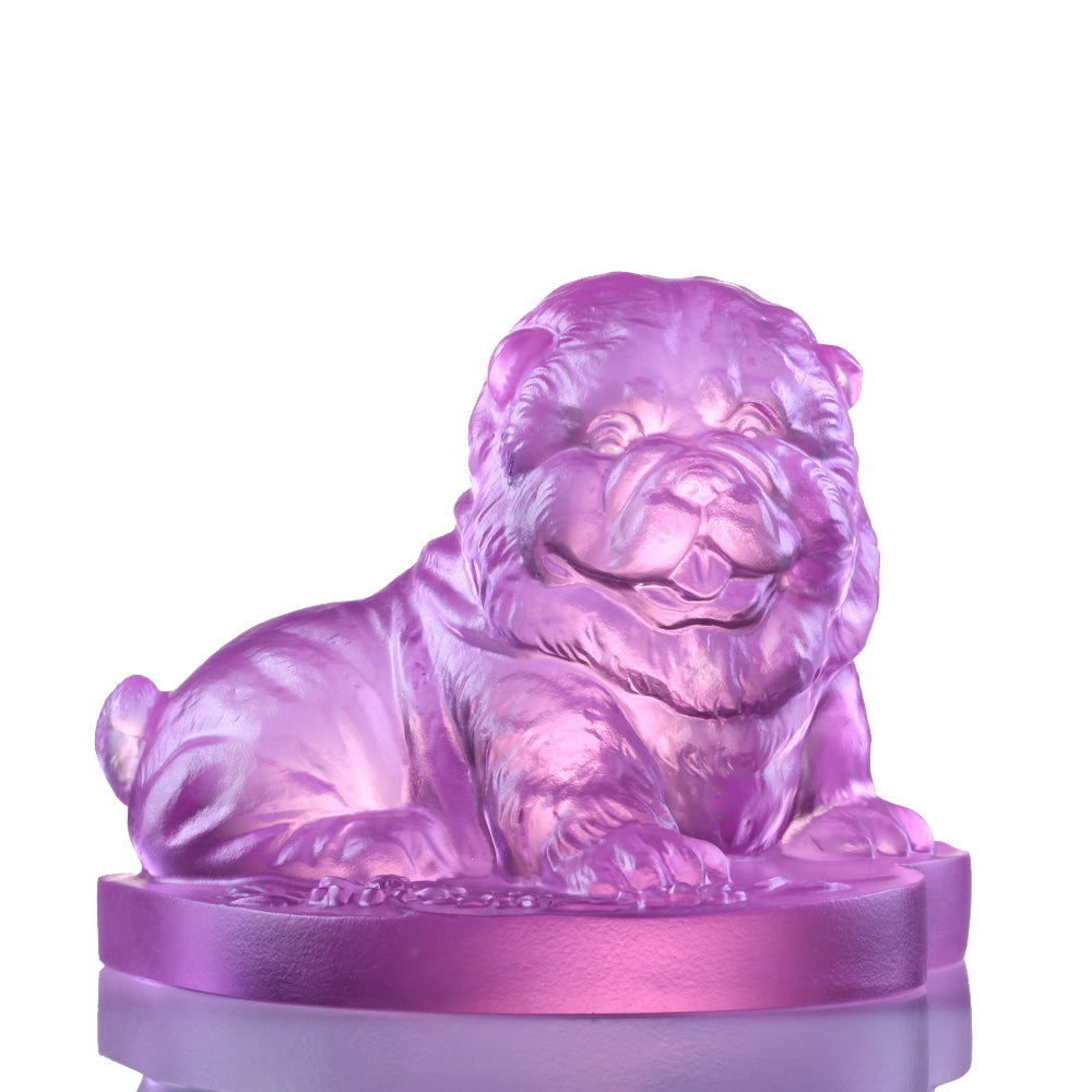 Crystal Animal, Chow Chow, Dog, Only Love - LIULI Crystal Art