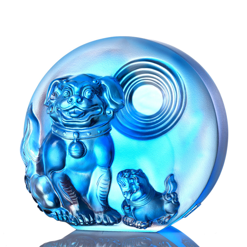 Generations of Fortune- Dog Figurine (Prosperous) - LIULI Crystal Art