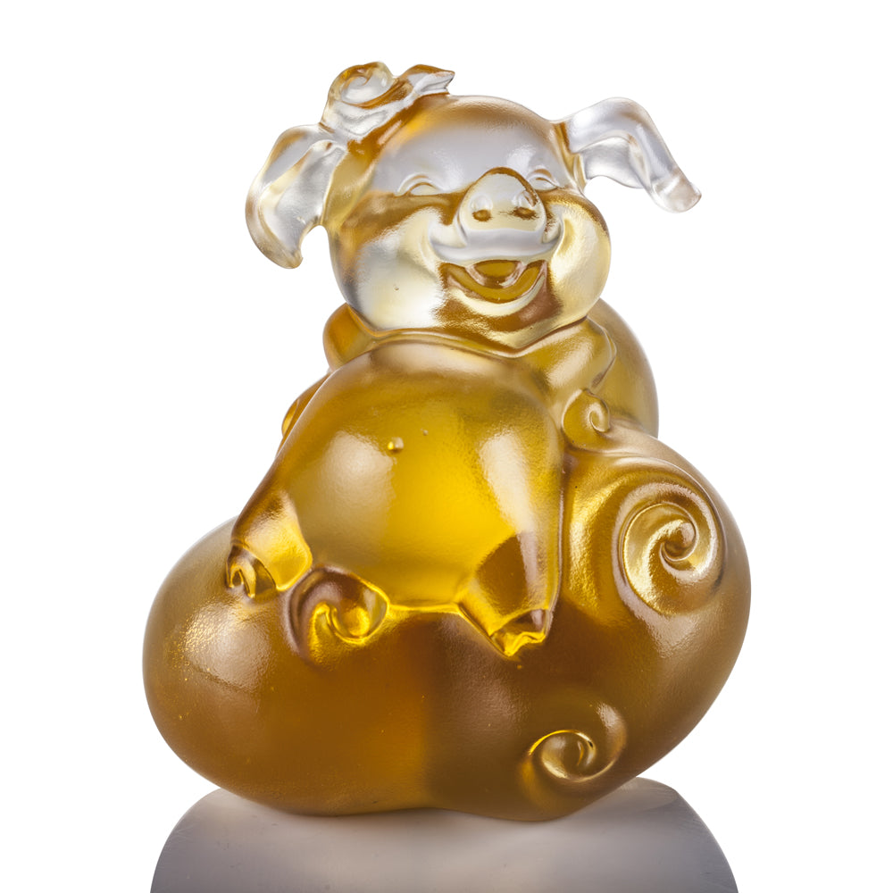 Crystal Animal, Pig, Fortune and Fulfillment - LIULI Crystal Art - [variant_title].