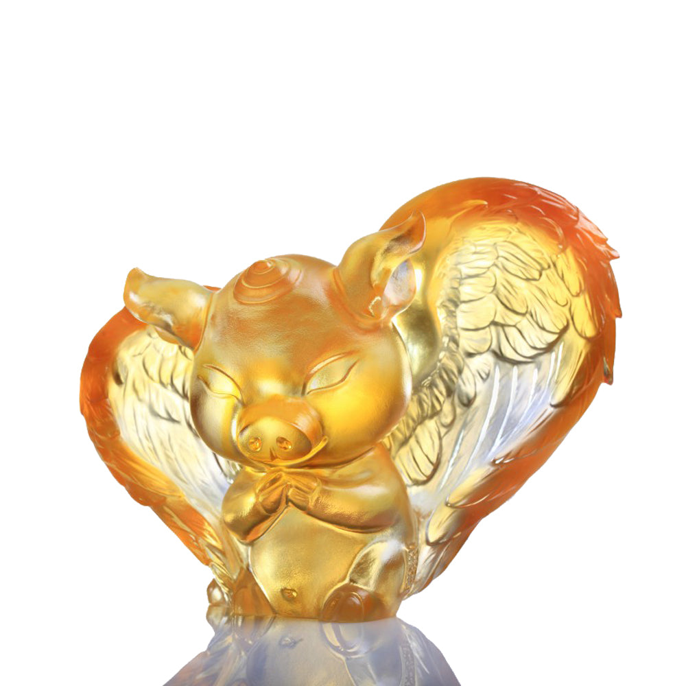 Crystal Animal, Pig, Dreams Come True - LIULI Crystal Art